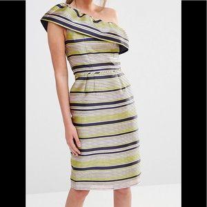 STUNNING! one shoulder ruffle dress 🌸🌼🌺